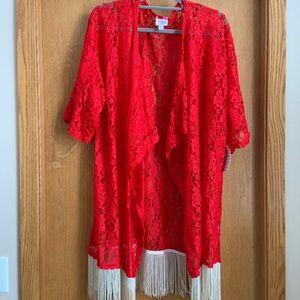 Lularoe Red Lace Monroe